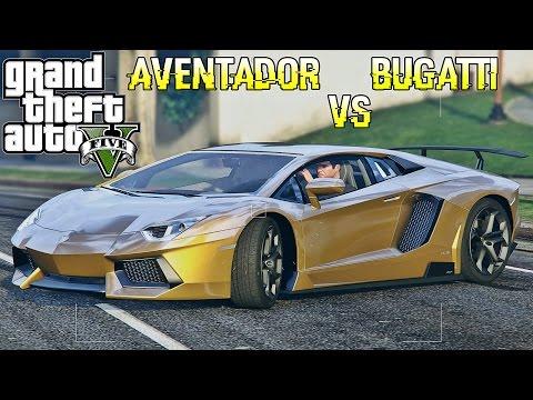 GTA 5 Lamborghini Aventador VS Bugatti Veyron MOD (Show Case)