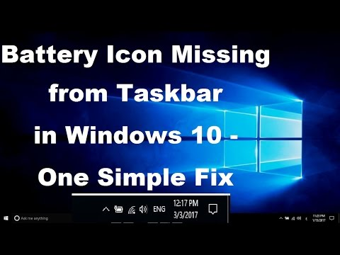 Battery Icon Missing from Taskbar in Windows 10 - Simple Fix