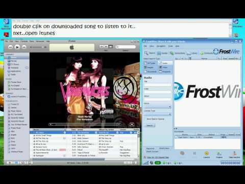 How to put Frostwire songs on iTunes