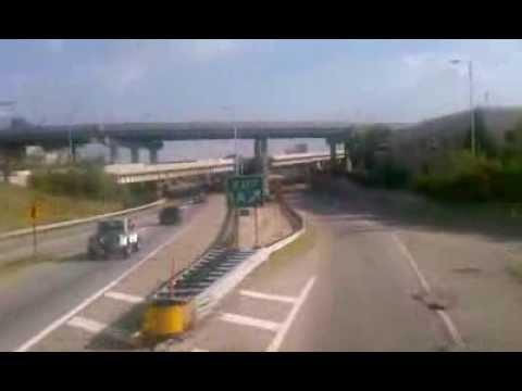 Entering Cincinnati on Megabus