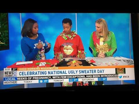 MimiCuteLips National Ugly Christmas Sweater Day, Good Morning Washington