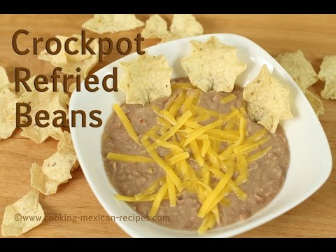 Easy Crockpot Refried Beans by Rockin Robin