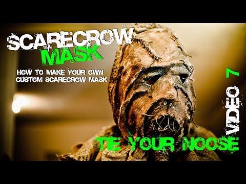 7 Tie Your Noose for you Custom  Batman Scarecrow Mask