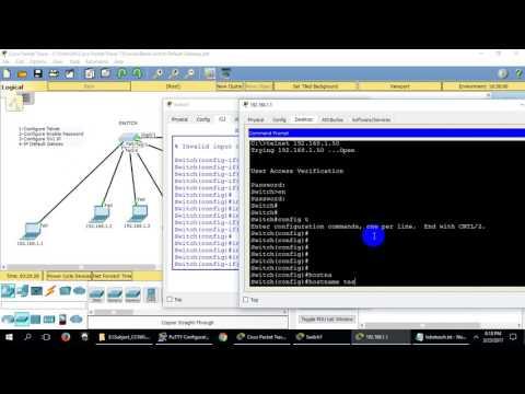 CCNA-Class4-Configure Telnet,SSH,SVI, Switch Managment IP, Console Password