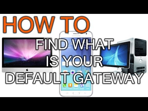 How to Find Your Default Gateway or router IP Address