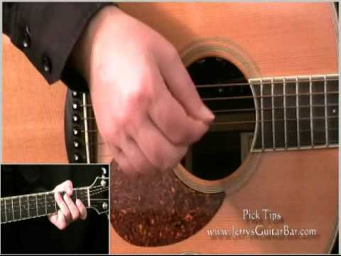 How to Strum with a Pick - Beginner's Guitar Lesson