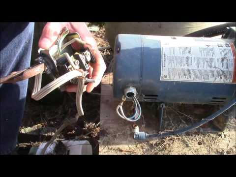 How to replace pressure switch on water pump