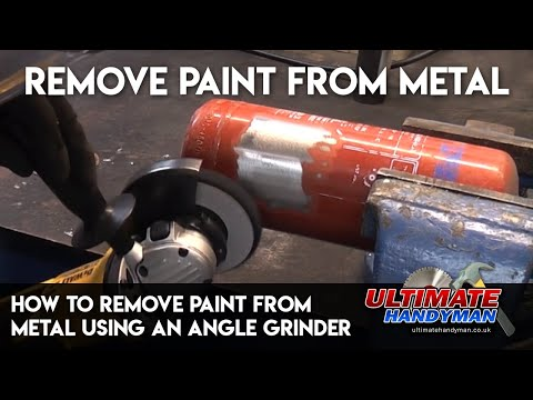 How to remove paint from metal using an angle grinder