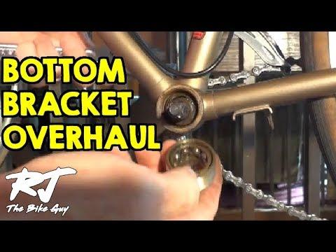 How To Overhaul A Bike Bottom Bracket - Remove/Clean/Install New Bearings