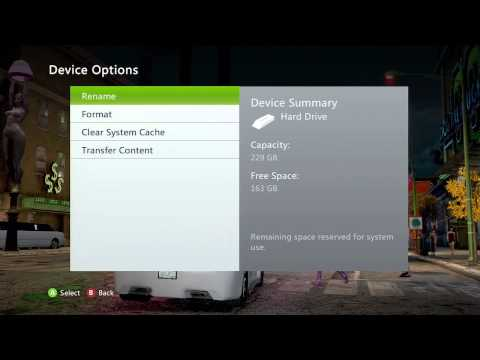 How to Clear Your Xbox 360 HardDrive System Cache