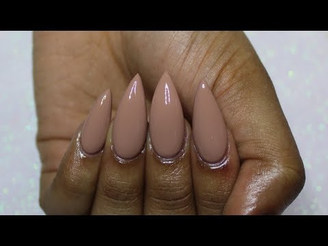 HOW TO: Turn REGULAR Nail Polish into GEL Polish | Nude Stiletto Nails