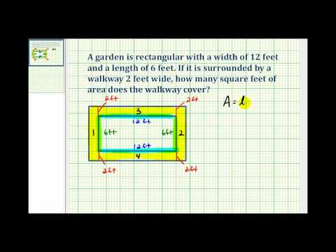 Ex:  Determine the Area of a Walkway Around a Rectangle