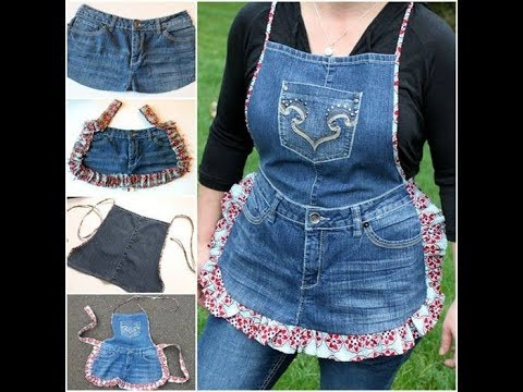 Convert Old Jeans into Kitchen Apron DIY | Old jeans Hacks