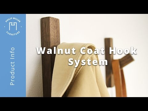 How To Install The Walnut Coat Hook System