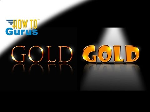 Photoshop Text : How to do a Metallic Gold Text Effect : CC 2018 CS6 CS5 Tutorial