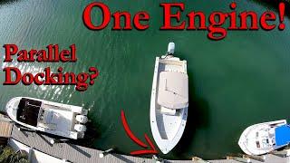 Docking A SINGLE Engine Boat SIDEWAYS!
