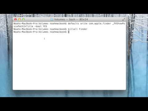 Terminal Lesson 18 - File Path in Finder!