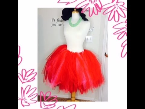 Very Fast, Simple way to make a No Sew TuTu