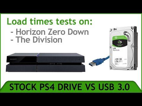 PS4 USB 3.0 External vs Stock Drive Speed-Loading Test.