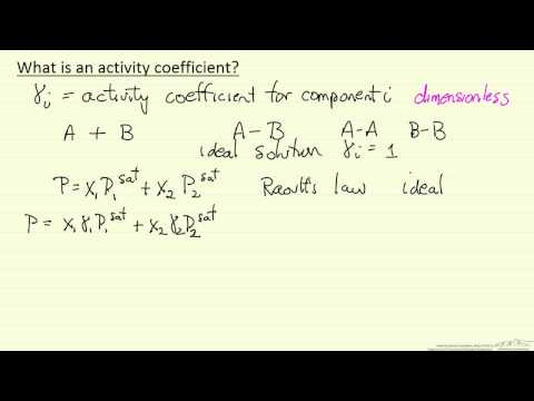 What is an Activity Coefficient?
