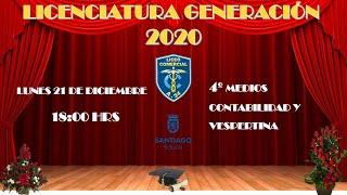 Licenciatura 4tos Medios Liceo Comercial A°24 Presidente Gabriel González Videla