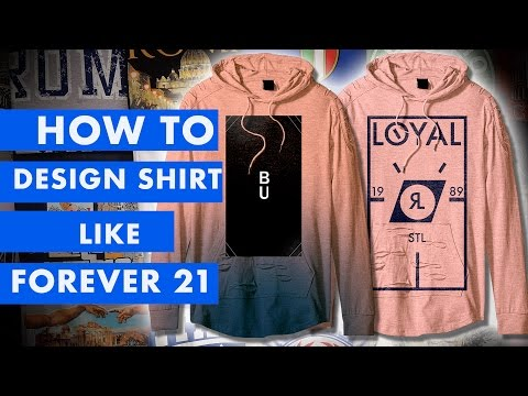 How to Make A Forever 21 Graphic Tee Shirt in Illustrator and Photoshop