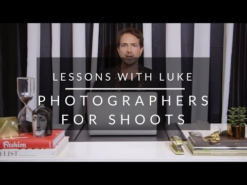 Lessons with Luke: Finding Photographers for Shoots