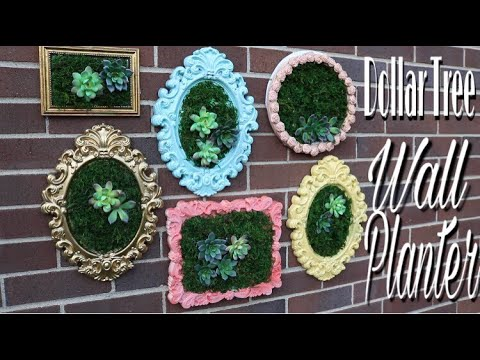 Dollar Tree DIY Succulent Wall Planter | Dollar Tree DIY Wedding Decor
