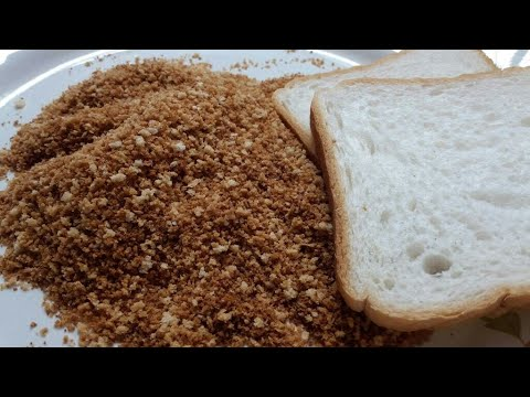 Bread crumbs l how to make bread crumbs at home