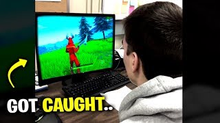 Playing Fortnite In Detention (Got Caught)