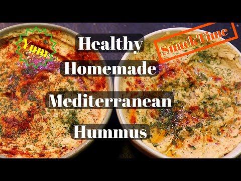 Healthy Mediterranean Hummus Recipe(FAST)