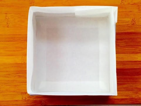How to line a square cake tin / चौकोर केक टिन की लाइनिंग