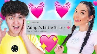 My Little Brother Reacts to His Crush (FaZe Adapts Little Sister & FaZe Jarvis)