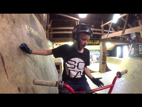 Lil Pros Kids Tour - How to Wall Ride with 9 Year Old Reed Bleymeyer - Nowear BMX Compound