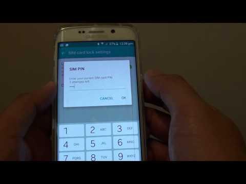Samsung Galaxy S6 Edge: How to Change SIM Card PIN
