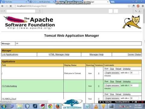 Run Java application using Apache Tomcat Server