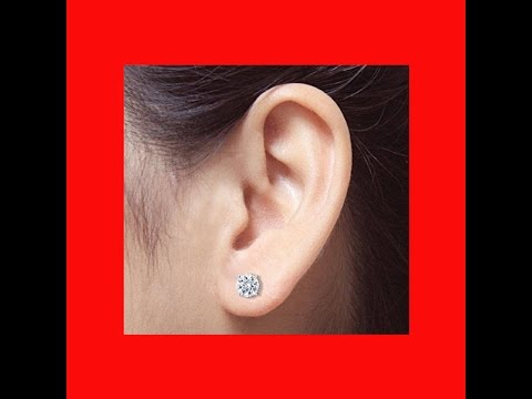 Diamond Stud Earrings Screw Backs