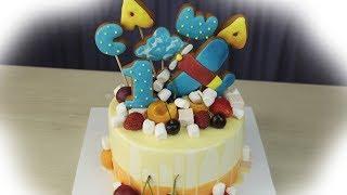 Детский торт с топперами без мастики - Я - ТОРТодел!