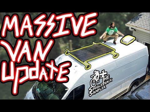 MASSIVE VAN BUILD UPDATE: Fan, Solar, Fridge, and Ceilings! // Singletrack Sampler Van Build (Ep. 5)