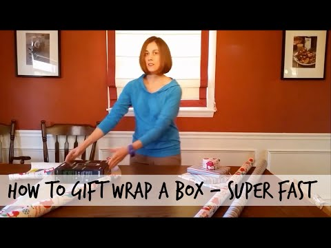 How to gift wrap easily - the fast forward version