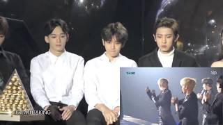 151227  EXO (Baekhyun, Chen, Chanyeol) reaction to VIXX - Chained Up