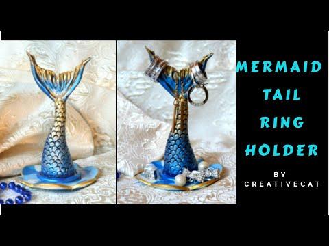 DIY Mermaid Tail Cute Ring Holder / Everyday Jewelry Holder