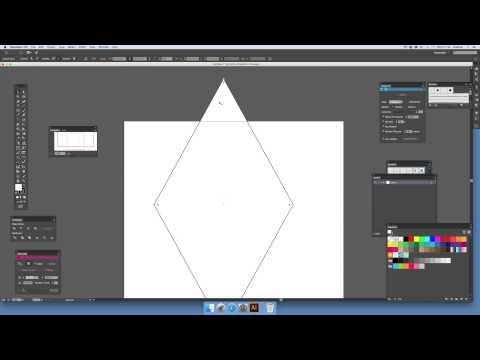 How to create a diamond symbol in Illustrator (Intermediate) tutorial