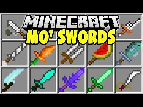 Minecraft MO' SWORDS MOD | STRONGEST MINECRAFT SWORDS EVER!!