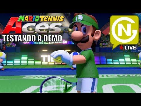 Vamos ver como esta esse jogo! | Mario Tennis Acess DEMO
