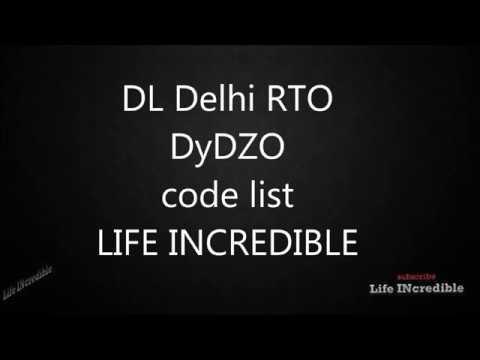 Delhi RTO DyDZO code list