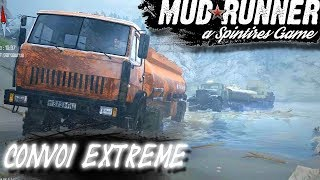 CONVOI DE 2 ÉNORMES CAMIONS ! SPINTIRES : MUDRUNNER