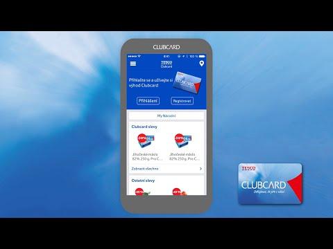 Návod na použití mobilní aplikace Tesco Clubcard.