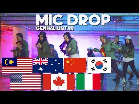 [Korea, Malaysia, Australia, China Reaction] - BTS(방탄소년단) - MIC Drop - Gen Halilintar (Cover)