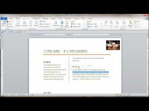 Video Tip: Microsoft Word 2010 Columns